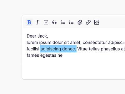 WYSIWYG text editor icons editor text ui