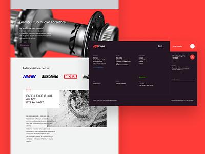 NR Team Redesign #2 sanserif flat motors offroad landing footer e-commerce