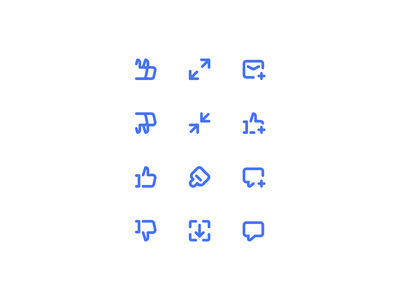 Icons exploration 2px stroke 16x16 iconset outline icons
