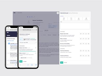Evaluation drawer mobile desktop rating evaluation