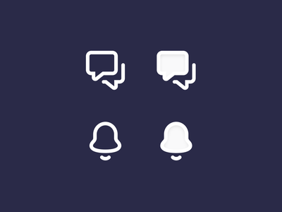 Default / Active icons outline navigation icons 24x 32x32 icons