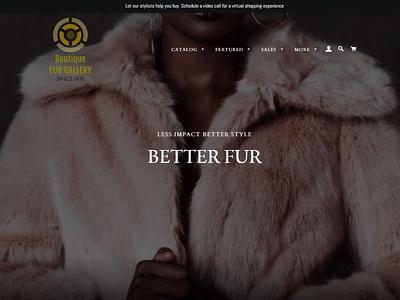Luxury Fur landing page design landing page hero