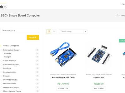 Microelectronics estore shop page design materialui css html