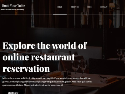 Restaurant Reservation System Landing Page landing page hero css html