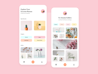My Gallery UI Design 🎨 pastel color ux ui app