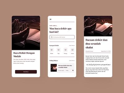 Dzikir App (Blog App) 📖 border dzikir brown dzikir app ui