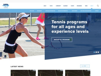 usta florida design tennis florida wordpress design wordpress