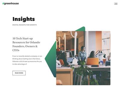 Agency Blog agency hubspot blog design