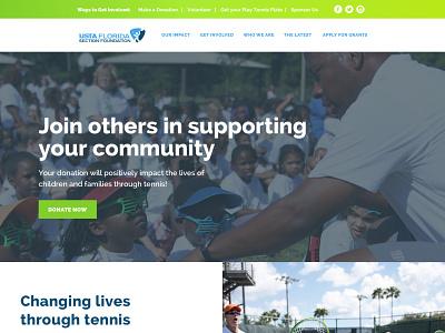 USTA Florida Section Foundation wordpress florida nonprofit tennis
