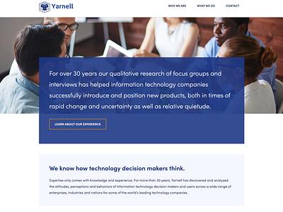 Yarnell Research web design wordpress