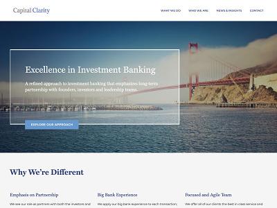 Capital Clarity web design website investment banking wordpress