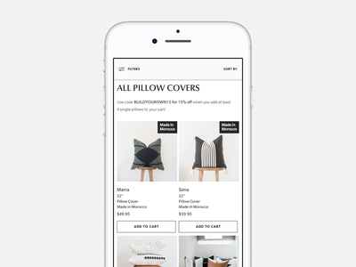 Woven Nook Collection Page web development brand web design website ecommerce
