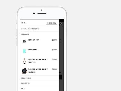 Thread Wallets Live Search shopify web development website web design ecommerce