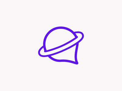 Unused planet logo planet branding logo