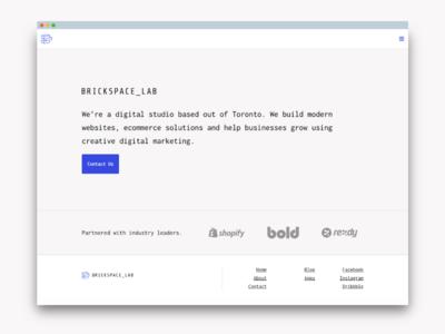 Landing page web design website