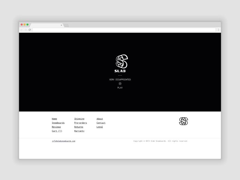 Slab Snowboards brutalist web design website branding ecommerce