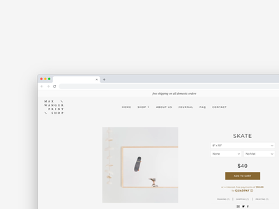 Max Wanger Print Shop Product Page web design company web development company web development web developer development ecommerce website