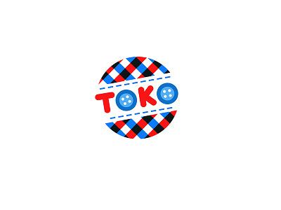 TOKO logo toys shop logo rag toys rag logo rag doll toys logo