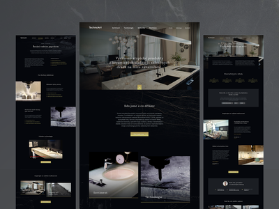 Technoart material pavement black dark modern luxurious classy luxury technology website webdesign web landing page design