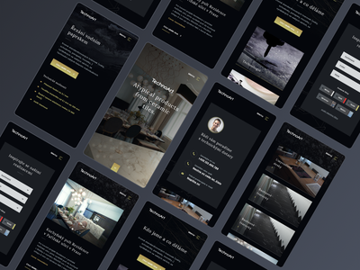 Technoart – mobile texture minimalistic phone technology classy website webdesign web landing page responsive app dark app mobile dark black luxury pavement material