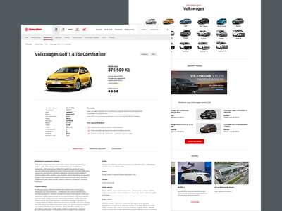 Autocentrum Jan Šmucler car dealership car dealer dealer light clean rental car rental car app car booking car dashboard car club car e-commerce eshop branding landing page website web webdesign design