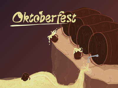 Oktoberfest beer art wood barrel oktober fest october fest octoberfest oktober fest oktoberfest brewing vector beer branding beer label illustration brewery brew bier beer