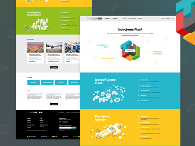 SITMP cube technology vector ux ui illustration design website landing page webdesign web