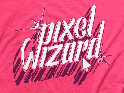 Pixel Wizard rit odopod hand lettering custom type typography vintage retro shirt new media club