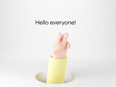 Hi! 3d characters illustration design