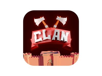 3D App logo hatchet 3dlogo logo castle illustration war icon 3d