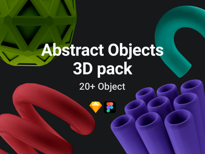 Abstract 3D objects pack creative illustration design 3dobjectspack design illustration 3dicon 3dobjects shapes abstract
