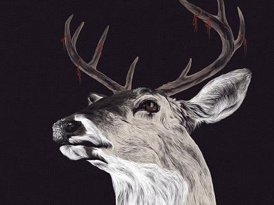 'Remin'deer reminder deer buck antlers string illustration drawing artnerd
