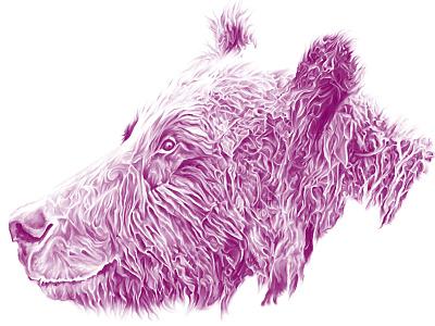Bear Your Heart bear heart detail illustration drawing pink technique watercolour digital