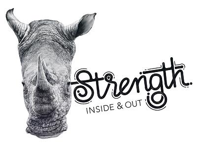 Rhino Strength rhino rhinoceros beast africa strength strong safari animals