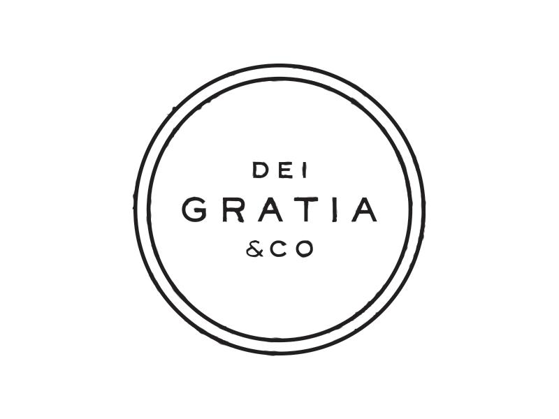 Dei Gratia & Co. dallas barber identity custom type branding logo