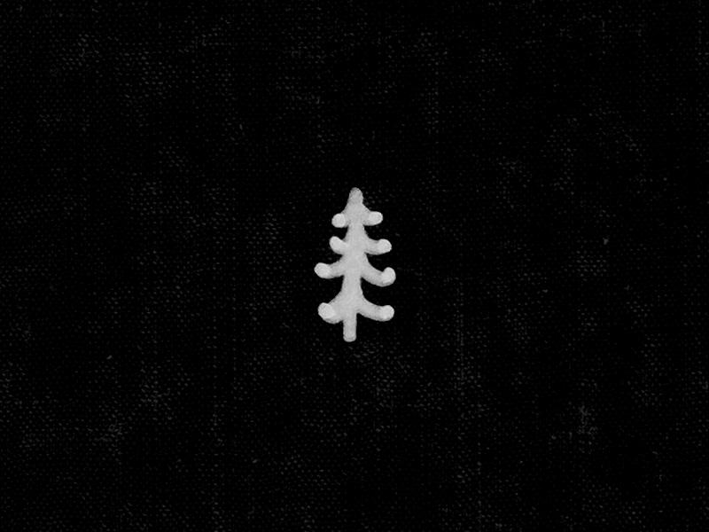 Pine Tree micron hand lettering pine tree branding icon