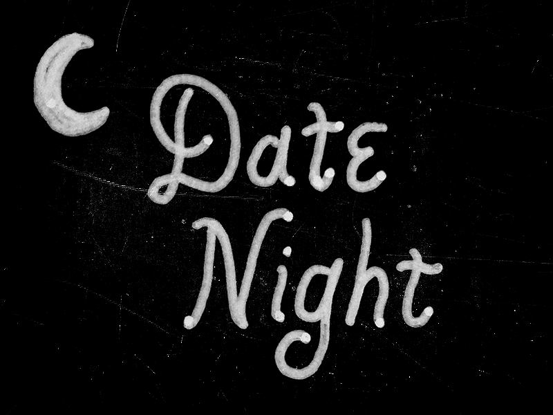 Date Night pigma micron netflix typography hand lettering