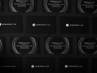 StripesFilm foil letterpress business cards typography identity branding logo