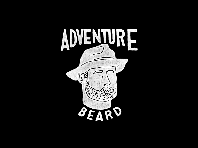 Adventure Beard T-Shirt Graphic portrait fake vintage stamp hand lettering shirt beard supply adventure beard