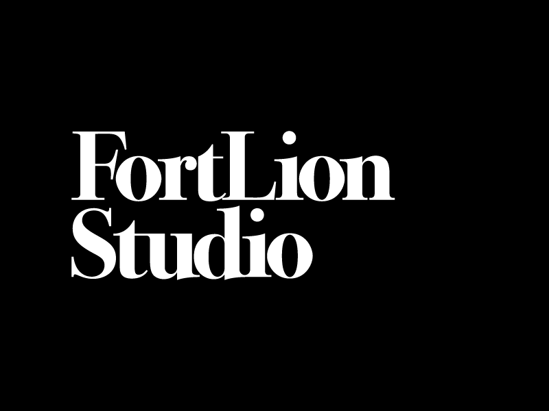 Fort Lion Studio custom font logotype studio branding logo fort lion