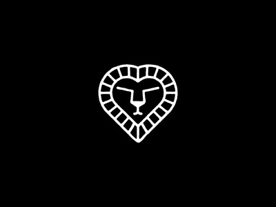 Lion's Heart fort lion studio branding mark logo heart lion