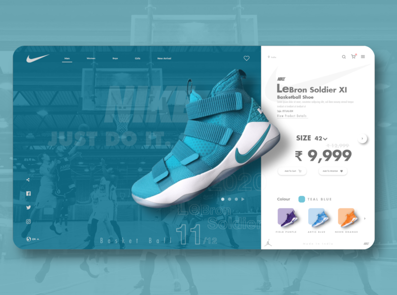 Nike Web Store design uiux design nike2020 lebron james lebronjames lebron shoes app shoebox shoe design shoes shoe uidesign ui design uiux nike running nike air max nike air nike shoes nike