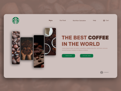 coffee web ui starbucks consept ui coffee bean coffeeshop coffee cup coffee