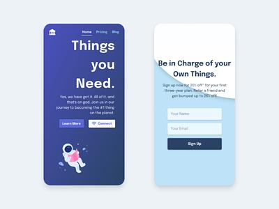Fintech App Landing Page minimal modern web design landing page ux tailwindcss