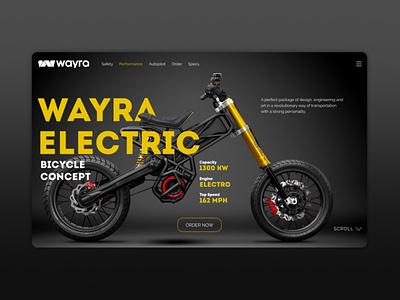 Дизайн обложки сайта мотоцикла Wayra design illustration indesign adobe indesign website webdesign web ux ui tilda figma
