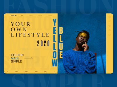 Fashion | Concept fashion branding web ui style figma design