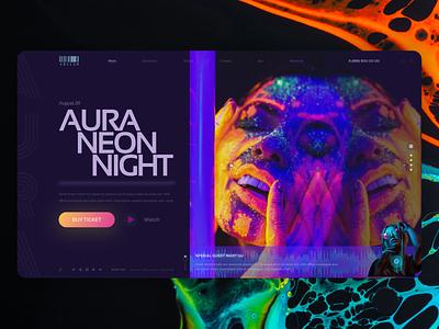Neon | Concept neon fashion web style figma design