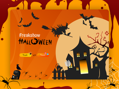 Halloween | Concept illustration halloween ui web figma design