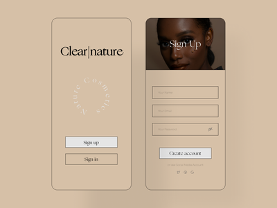 #001 | Daily UI — Sign Up clear beauty dailyui style figma design