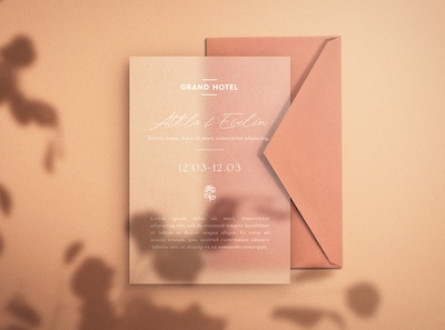 Save the Date - Free Paper Mockup